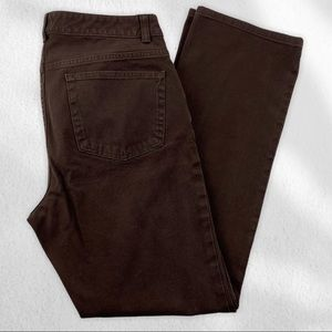 Chaps Jeans Brown Straight Leg Sz 12